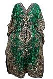 Women's Kaftan Boho Dresses Green Caftan Cover up Dashiki Beach Dress One Size