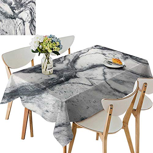 (UHOO2018 Square/Rectangle Indoor and Outdoor Tablecloth Marble Texture Marble Wallpaper backgroun Texture Restaurant Party,50 x103inch)
