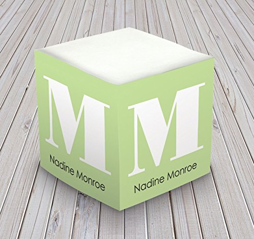 Personalized Cube Memo - Personalized Self Stick Memo Cube - Large Roman Initial - 2807_38