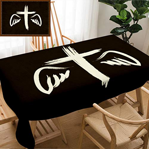 Skocici Unique Custom Design Cotton and Linen Blend Tablecloth Crucifix Symbol of Death and SalvationTablecovers for Rectangle Tables, 60