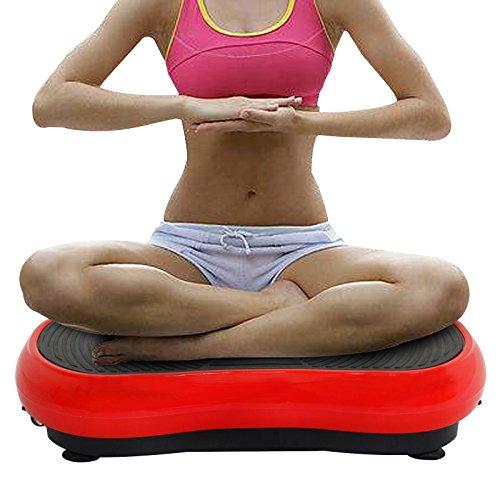 Crazy Fit Full Body Vibration Platform Massage Machine Plate Vibration Workout Trainer w/Straps and Remote Control