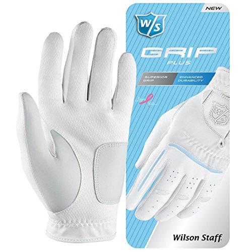 Wilson Staff Damen Golf Handschuh Grip Plus LLH, Weiß, S, WGJA00940S