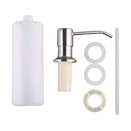 Wafalano Universal Home Bathroom Kitchen dispensador de jabón líquido Bottle Stainless Steel Hand dispensador de jabón