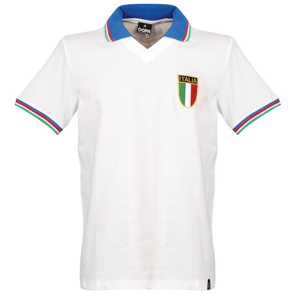 1982 Italien Away Retro Shirt - weiß