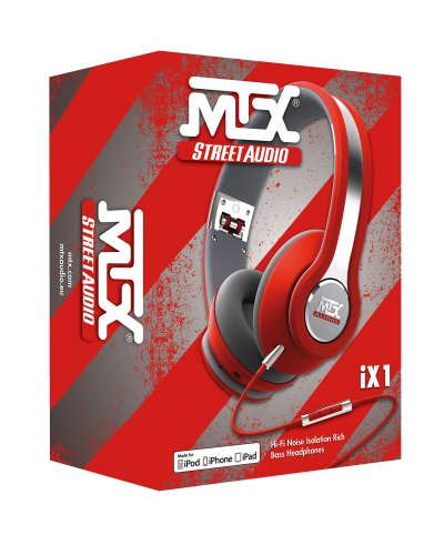 MTX Audio IX1-Red Street Audio On Ear Acoustic Monitors - Red by MTX (Image #3)