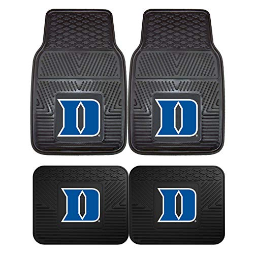 Duke University Blue Devils NCAA 4pc Floor Mat Sets (Front and Rear) - Heavy Duty-Cars, Trucks, - Devils Duke Piece 4 Blue