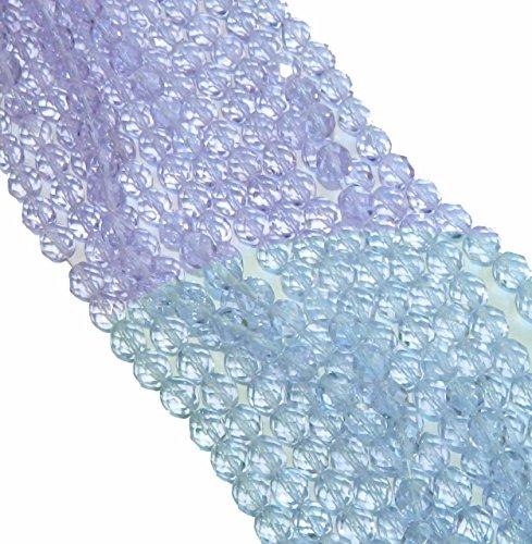 Firepolish Faceted Czech Glass Round Beads 4mm Alexandrite 196 ()