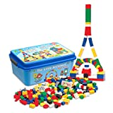 The Little Architect Educational building toys - Master Builder 620 Pc W/ 20 building cards ideal for kids- Teach how to develop their imagination skills-Great for home,schools. Ages 4+
