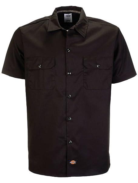 e99f0609a7 Dickies Short Sleeve Slim Work Shirt Camisa para Hombre: Amazon.es: Ropa y  accesorios
