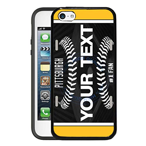 (BRGiftShop Customize Your Own Baseball Team Pittsburgh Rubber Phone Case for Apple iPod Touch 5th & 6th Generation)