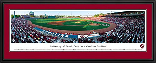 South Carolina Gamecocks Framed (South Carolina Baseball - Blakeway Panoramas College Sports Posters with Deluxe Frame)