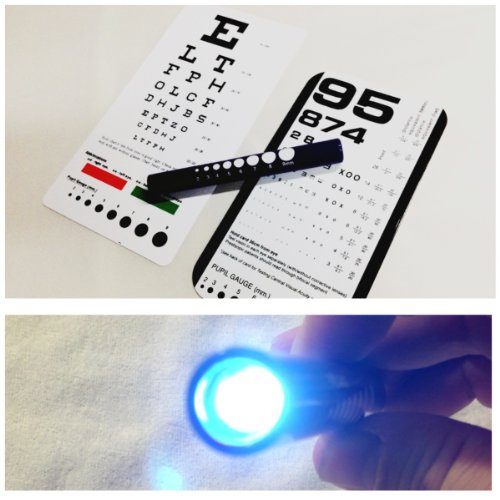 EMI Rosenbaum AND Snellen Pocket Eye Charts + LED Penlight - 3 Piece Set!