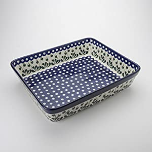 Polish Pottery Large Lasagne Dish – Love Leaf – 32cm x 26cm