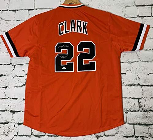 (Jack Clark Signed Autographed 'The Ripper' San Francisco Giants Baseball Jersey - JSA COA)