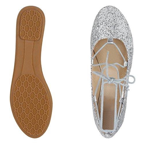 napoli-fashion - Bailarinas Mujer plata