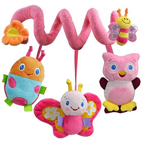bile Cot Toy Baby Spiral Wrap Around Crib Colorful Doll Soft Toys Activity Crib Stroller Newborn Bed Hanging Plush Birthday Multifunction suspension Gift Cloth Gym, A ()