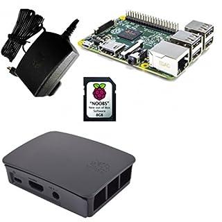 Raspberry 51585 - Mini ordenador (Cortex 1.2 GHz, memoria interna de 8 GB) negro y gris