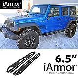 Off Roader Black Aluminum Rock Sliders for 2007-2017 Jeep Wrangler JK 4 Door (Running Boards|Nerf Bars|Side Armor)