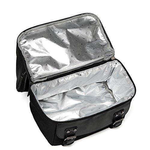 LCY Unisex impermeable mochila de pañales de & Bolsa Térmica Aislante 2en 1 negro negro negro