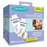 #6: Lansinoh Breastmilk Storage Bags, 100 Count, BPA Free and BPS Free (Packaging May Vary)
