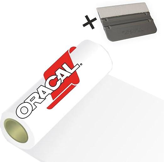 Orafol Cocina Pantalla Pantalla para Plotter Incluye Rasqueta Adhesivo para Muebles Your Design Pantalla Oracal 5 m (Color Blanco, 63 cm x 5 m): Amazon.es: Juguetes y juegos