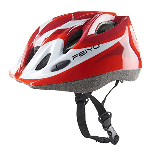 Joyutoy Kids Cycling Bike Helmet Integrated Ultralight Adjustable Safety Bicycle Helmets (Red)
