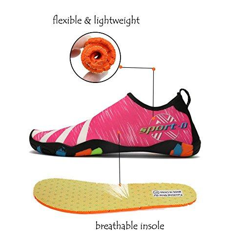 Lxso Heren Dames Waterschoenen Multifunctionele Sneldrogende Aqua Schoenen Lichtgewicht Zwemschoenen Met Drainagegaten 2-rose