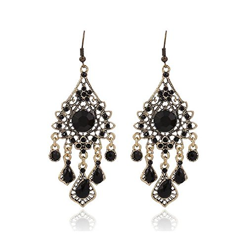 [Luck Wang Lady's Unique National Wind Bohemian Droplets Tassel Long earrings] (Different Types Zombie Costumes)