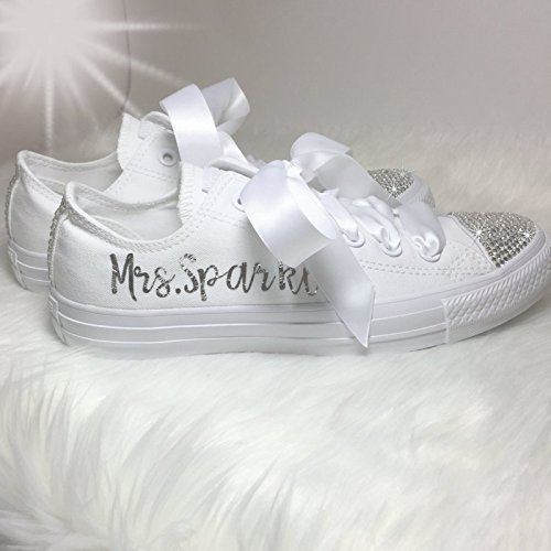 77e8b2dbbc7b Wedding Shoes Swarovski Custom and Personalized for the Bride Quinceañera  or Prom By SparkleBoutique2U. Wedding Converse ...