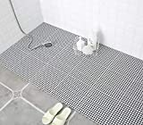 Set of 6 Interlocking Bathroom Rubber Flooring
