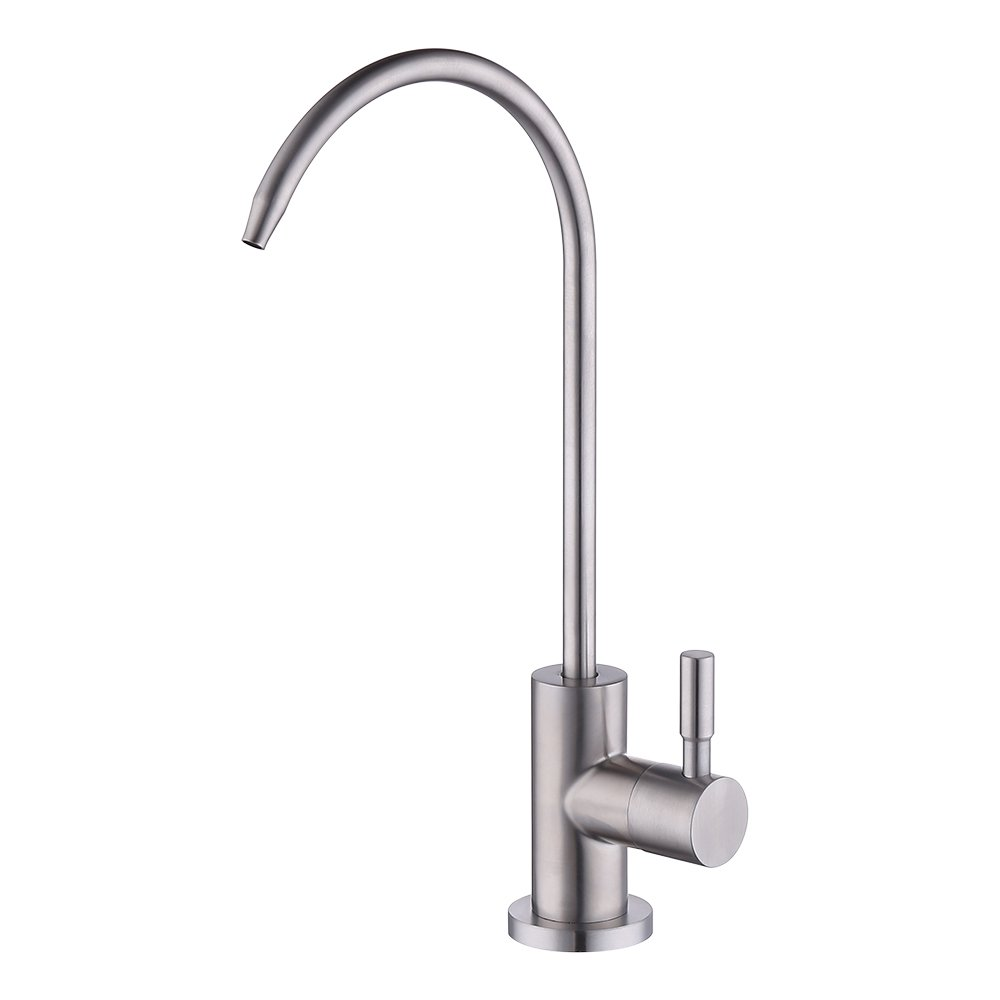 KES RO Water Filter Faucet Kitchen Bar Sink 304 Stainless Steel Drinking Water Faucet Brushed Nickel, Z501A