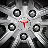 Tesla Wheel Decal (Red)