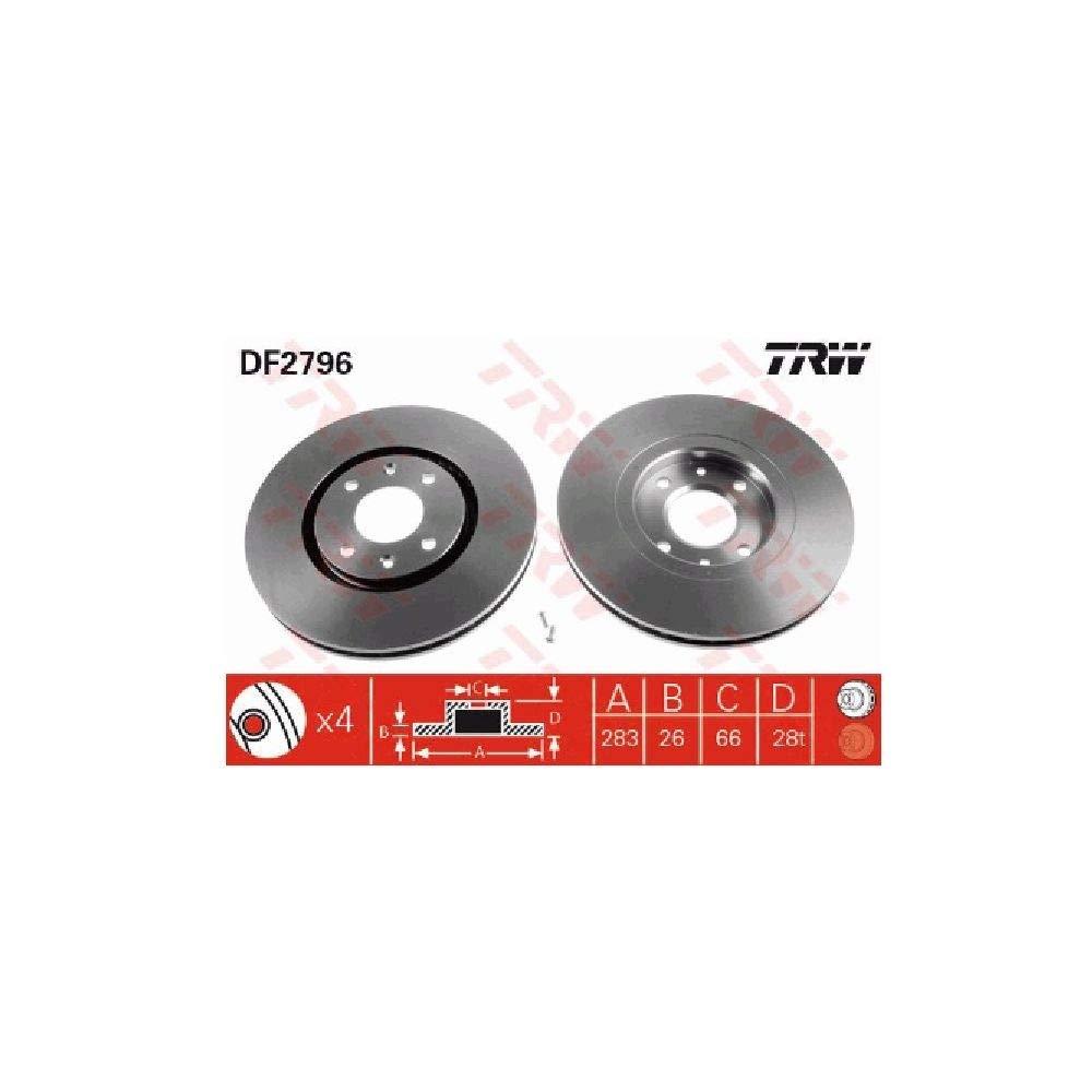 TRW Automotive AfterMarket DF2796 disco de freno
