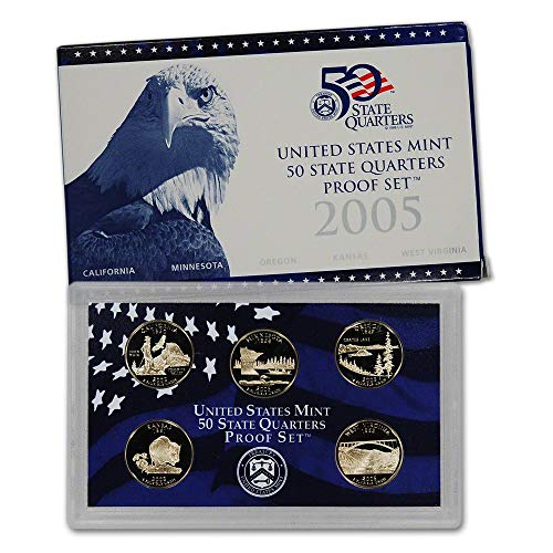 - 2005 S U.S. Mint Proof State Quarter Set - 5 Coins - OGP Original Government Packaging Superb Gem Uncirculated