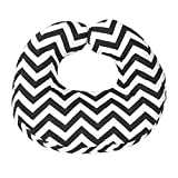 Jolly Jumper Hula Nursing Cushion- Black Chevron, Grey/White, One Size