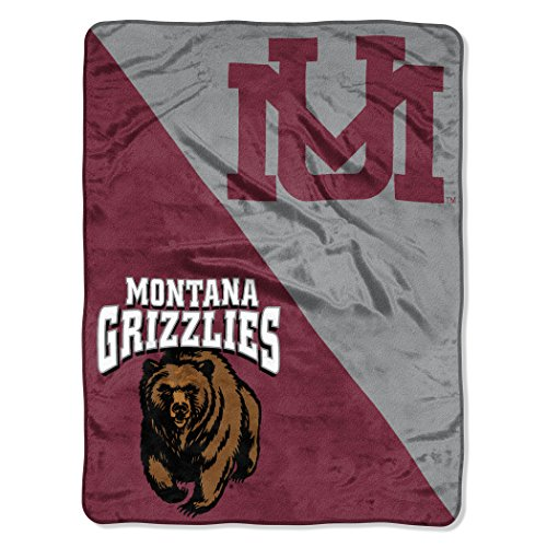 The Northwest Company Officially Licensed NCAA Montana Grizzlies Halftone Micro Raschel Throw Blanket, 46