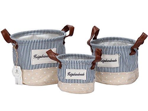 Sea Team Ramie Cotton Fabric Creative Patterns Storage Bags,
