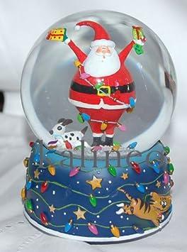 Gisela Graham - Spieluhr Schneekugel - Happy Santa