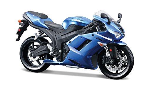 Kawasaki Motors - Maisto 39155 1:12 Scale AL Kawasaki Ninja ZX-6R Asembly Line Motor Cycle