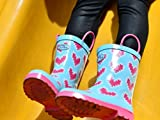 Outee Kids Toddler Girls Rain Boots Rubber Pink