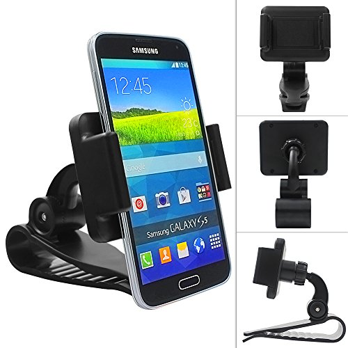 Multi-functional mobile phone Holder / Mount / Clip [max screen size 6 inch] for iPhone 6/6 Plus/5/5s/4/4S,HTC, Samsung Galaxy S6/S6 Edge, PDA and Smart Cellphone[Retail packaging] - Black
