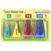 Pack of 4Pcs Fabric Clover Bias Tape Maker Binding Tool Set Machine Sewing Quilting Hemming Tools 6mm/12mm/18mm/25mm