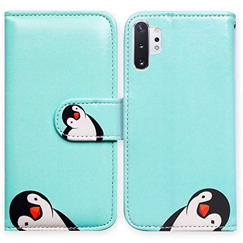 - Galaxy Note 10 Plus Case,Bcov Black Penguin Card Slot Wallet Leather Cover Case for Samsung Galaxy Note 10 Plus