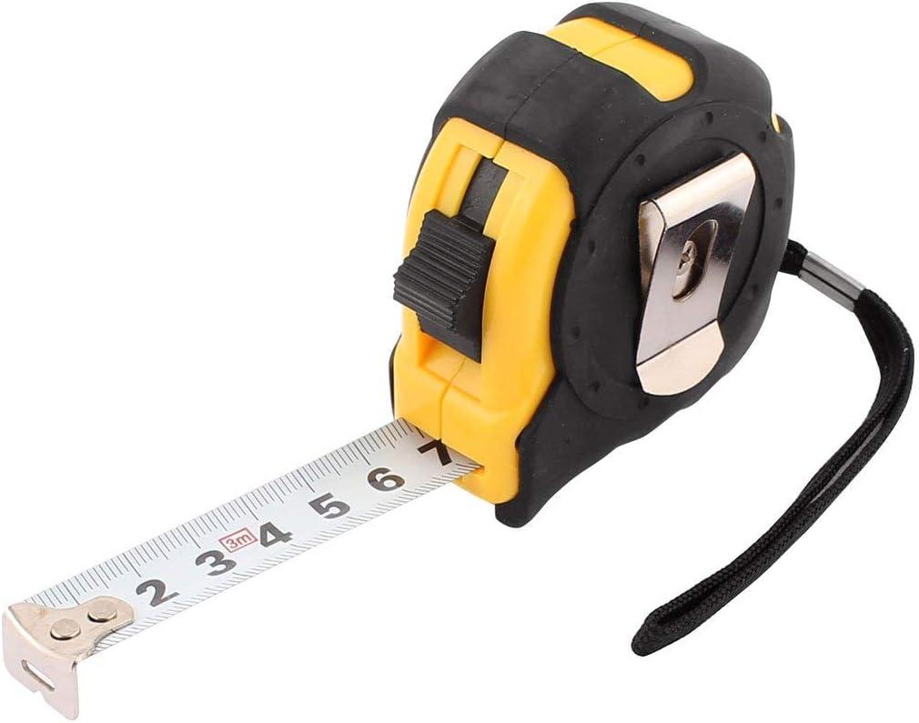 10Ft Plastic Housing Retractable Ruler Thumb Locking Tape Measure Measurement Tool