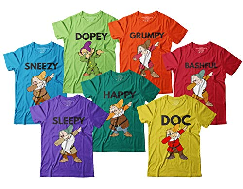 Dwarfs Dabbing Doc Dopey Grumpy Sleepy Sneezy Bashful Happy Halloween Costume Team Dwarfs Outfit Dabbing Squad Customized Handmade T-Shirt Hoodie/Long Sleeve/Tank Top/Sweatshirt ()