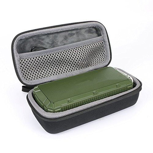 Hard Travel Case for APIE Portable Wireless Outdoor Bluetooth Speaker IPX6 Waterproof Dual 10W Driversf by co2CREA (Black) (Apie Portable Wireless Outdoor Bluetooth Speaker Ipx6)