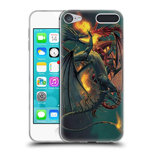 (Official Vincent HIE Clash of The Titans Dragons Soft Gel Case for Apple iPod Touch 6G 6th Gen)