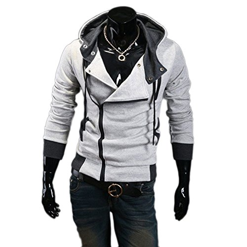 Aokin Assassins Creed 3 Desmond Miles Cosplay Costume Hoodie Jacket Costume Top Coat (M, Light (Assassins Creed 2 Costume)