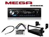 Pioneer Single DIN Car Receiver With Bluetooth W/CAR CD STEREO RECEIVER DASH INSTALL MOUNTING KIT + WIRE HARNESS + RADIO ANTENNA ADAPTER FOR CHRYSLER + DODGE + JEEP 2004-2008 -  Mega Big Box, Pioneer, Absolute