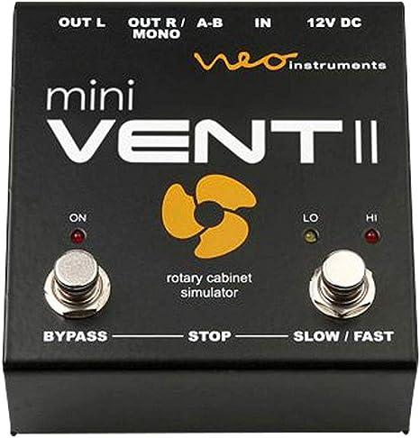 NEO INSTRUMENTS MINI VENT 2 Simulador de gabinete giratorio para guitarra y teclado: Amazon.es: Instrumentos musicales
